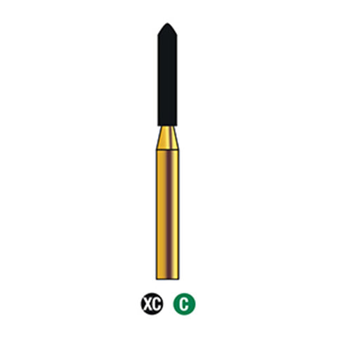 G/289-015S (878) 10-Pk , Multi use Gold Diamond Burs Torpedo Shaped