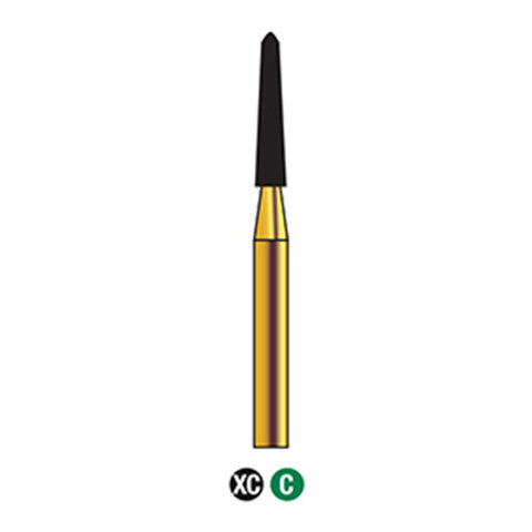 G/299-020S (879K) 10-Pk , Multi use Gold Diamond Burs Courrettage Shaped
