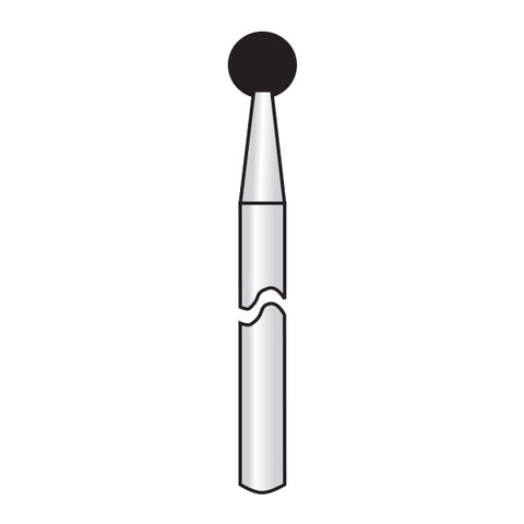 HP001-033 | Reusable Gold Diamond Burs. Round (Ball)Shaped