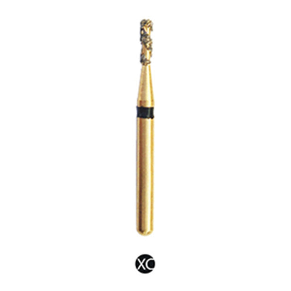 H/109-010 | (H835) Reusable Gold Diamond Burs. Spiral Shaped