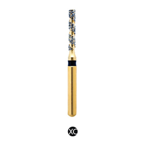 H/110-012S | (H836) Reusable Gold Diamond Burs. Spiral Shaped