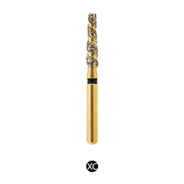 H/172-018s | (H847) Reusable Gold Diamond Burs. Spiral Shaped