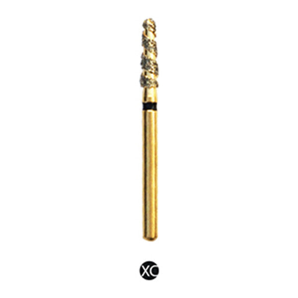 H/197-020S | Reusable Gold Diamond Burs. Spiral Shaped