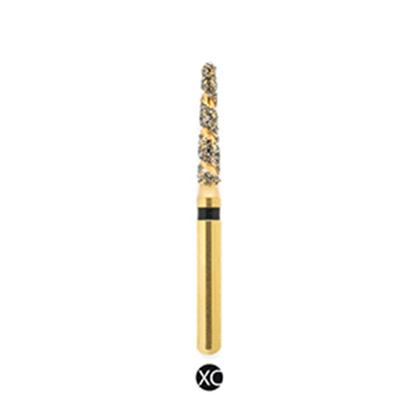 H/198-014S | (H856) 10-Pk , Multi use Gold Diamond Burs. Spiral Shaped