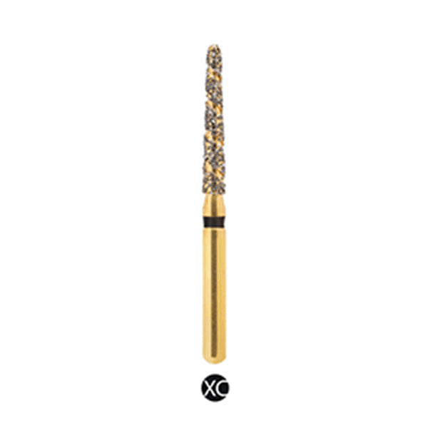 H/199-014S | (H850) Reusable Gold Diamond Burs Spiral Shaped