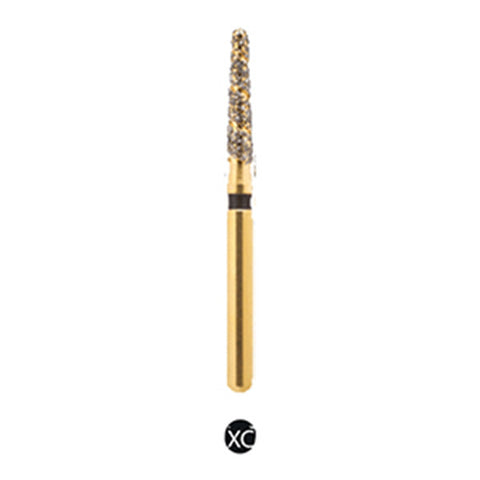 H/298-016-L | (H878K) Reusable Gold Diamond Burs. Spiral Shaped