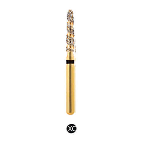 H/298-016S | (H878K) Reusable Gold Diamond Burs Spiral Shaped