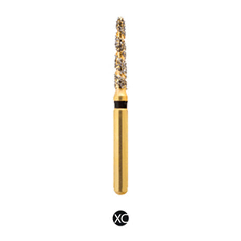 H/298-018 | (H878K) Reusable Gold Diamond Burs. Spiral Shaped