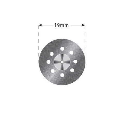 R04-335-514-190 | Reusable Diamond Discs. Double Sided - Perforated Semi-Flex