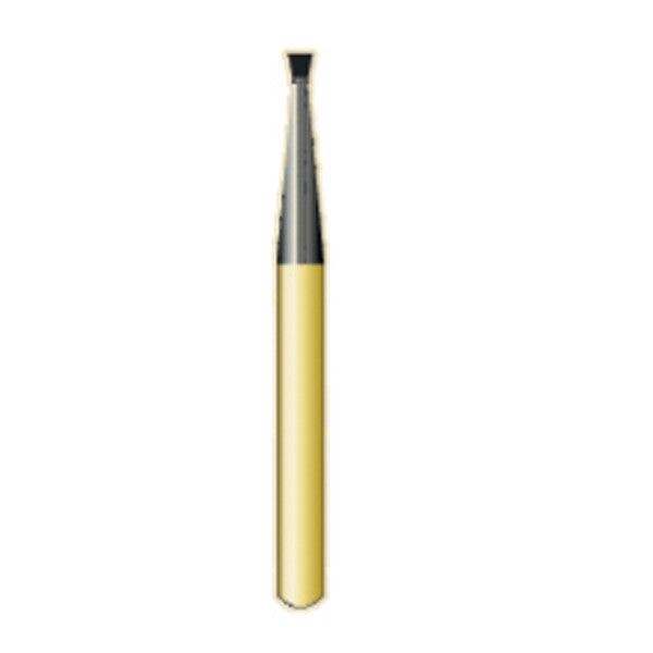 G/34 / (2034) Metal Cutting Gold Carbide Burs Inverted Cone Shaped