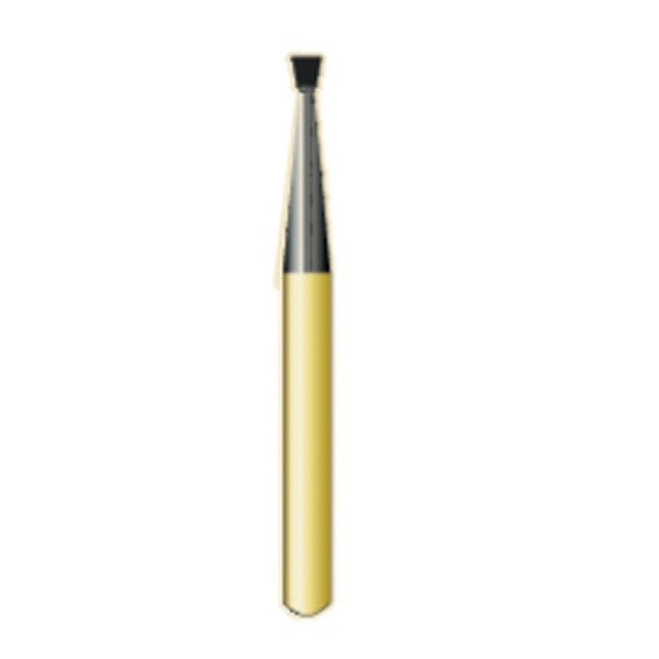 G/35 | (2035) Metal Cutting Gold Carbide Burs Inverted ConeShaped