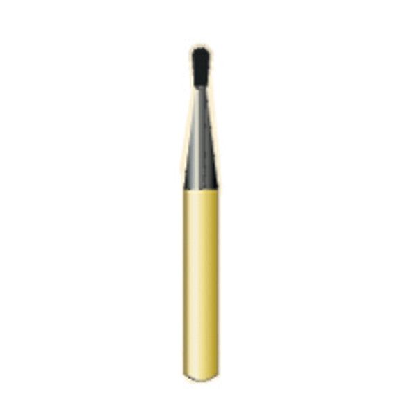 G/330ss | 1930ss SHORT SHANK Metal Cutting Gold Carbide Burs Pear Shaped