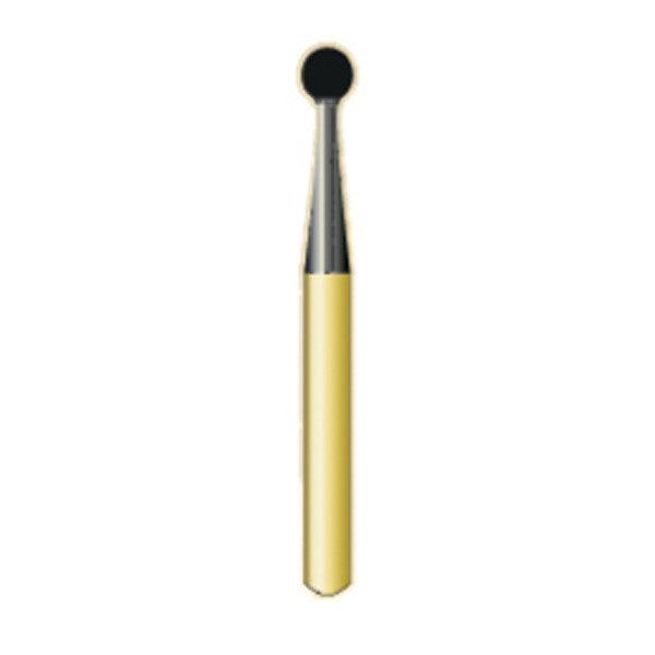 G/6 | Metal Cutting Gold Carbide Burs Round (Ball)Shaped