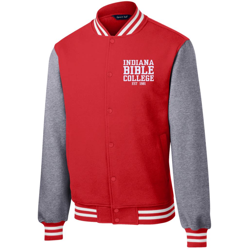 IBC - Fleece Letterman Jacket - Clean Text Design - Kick Merch - 7