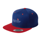 IGNITE church - Flat Bill High-Profile Snapback Hat - Kick Merch - 7