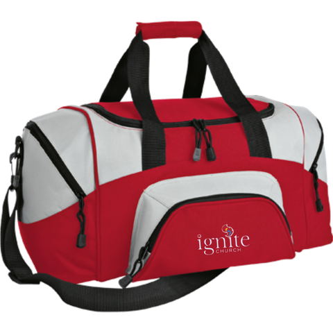 Image of IGNITE church - Small Colorblock Sport Duffel Bag - Kick Merch - 8