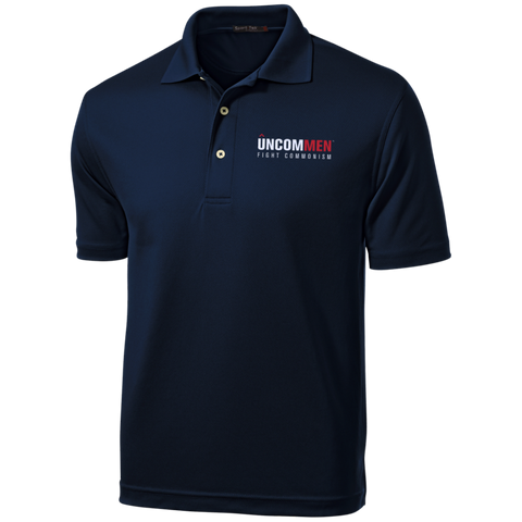 Image of UNCOMMEN Fight Commonism - Tall Dri-Mesh Short Sleeve Polos