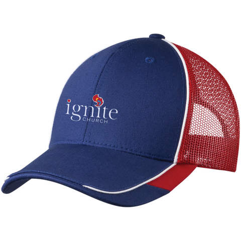 Image of IGNITE church - Colorblock Mesh Back Cap - Kick Merch - 3