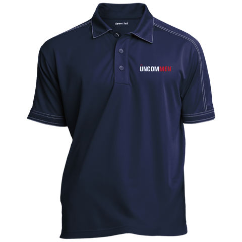 Image of UNCOMMEN Logo - Contrast Stitch Performance Polo