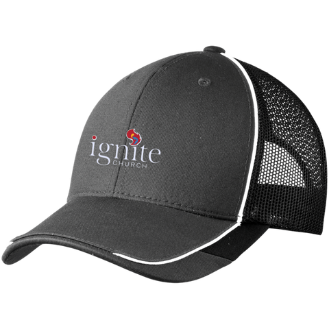 Image of IGNITE church - Colorblock Mesh Back Cap - Kick Merch - 4
