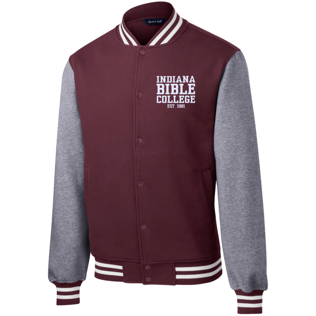 IBC - Fleece Letterman Jacket - Clean Text Design - Kick Merch - 4