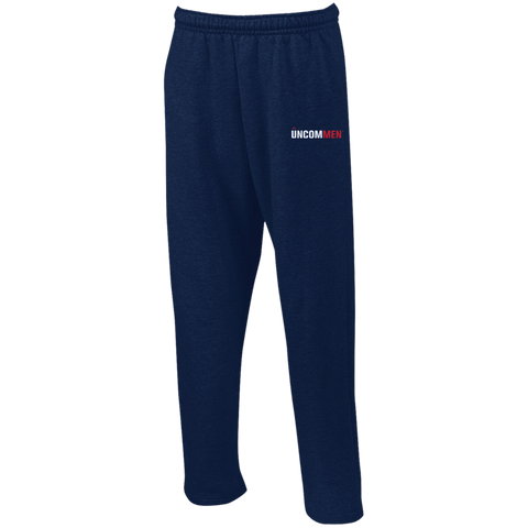 Image of UNCOMMEN Logo - Open Bottom Sweatpants with Pockets