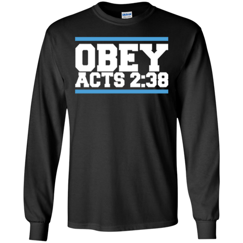 Image of Obey Acts 2:38 - LS Cotton Tshirt - Kick Merch - 1