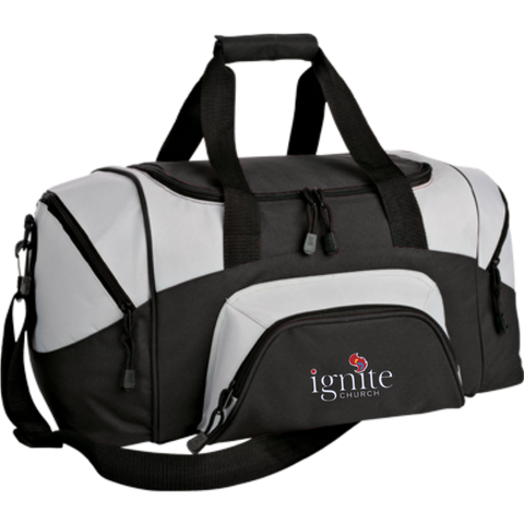 Image of IGNITE church - Small Colorblock Sport Duffel Bag - Kick Merch - 4