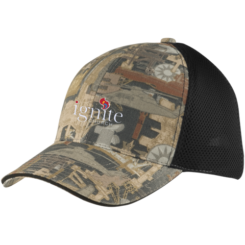 Image of IGNITE church - Camo Cap with Mesh - Kick Merch - 1