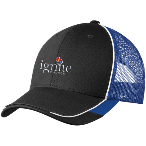 Image of IGNITE church - Colorblock Mesh Back Cap - Kick Merch - 1