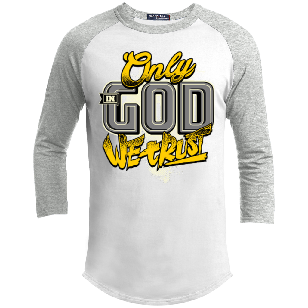 Only In God We Trust - Apostolic Images - 3/4 Length - Sporty Tee Shirt - Kick Merch - 9