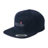 IGNITE church - Flat Bill High-Profile Snapback Hat - Kick Merch - 5