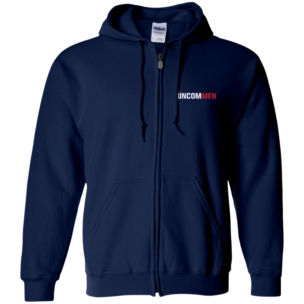 UNCOMMEN Logo - Embroidered Zip Up Hooded Sweatshirt