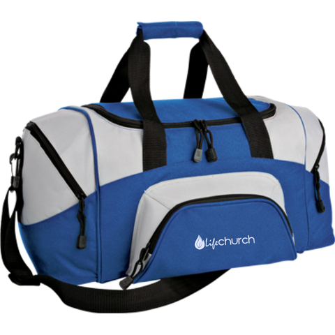 Image of LIFE Church Small Colorblock Sport Duffel Bag