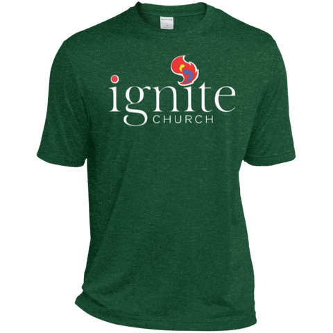 Image of IGNITE church - Heather Dri-Fit Moisture-Wicking Tee for Him - Kick Merch - 3