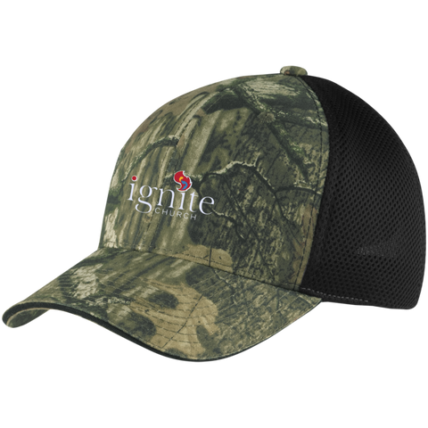 Image of IGNITE church - Camo Cap with Mesh - Kick Merch - 2