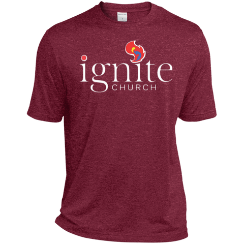 Image of IGNITE church - Heather Dri-Fit Moisture-Wicking Tee for Him - Kick Merch - 2