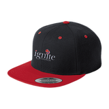 IGNITE church - Flat Bill High-Profile Snapback Hat - Kick Merch - 3