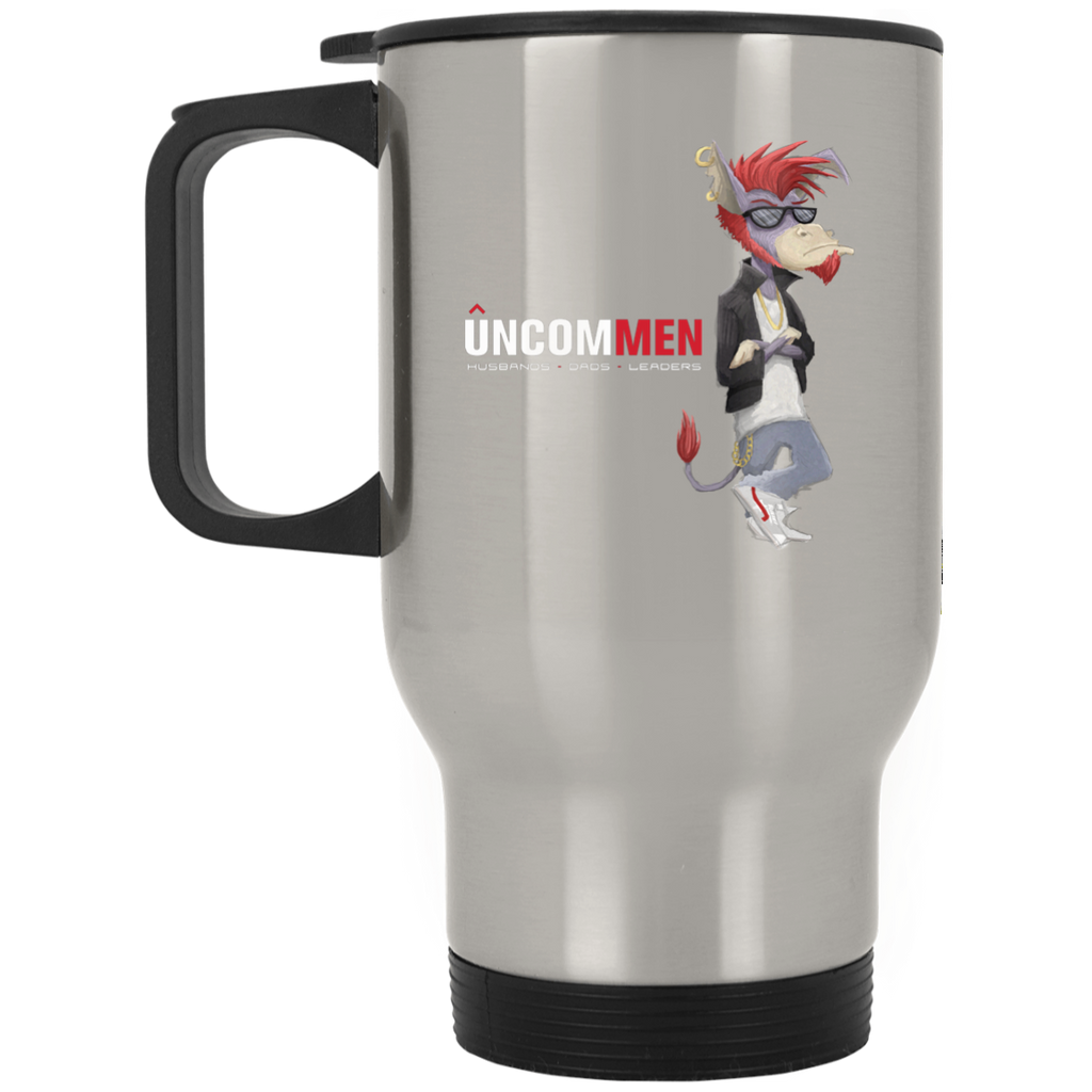 UNCOMMEN - Silver Stainless Travel Mug