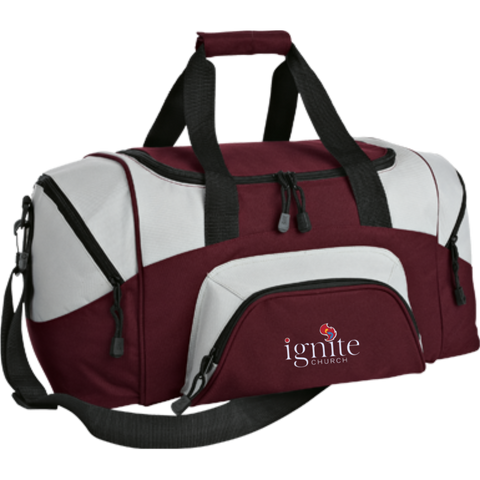 Image of IGNITE church - Small Colorblock Sport Duffel Bag - Kick Merch - 6