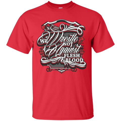 Image of We Wrestle Not - Cotton T-Shirt - Godly Wear - Kick Merch - 5