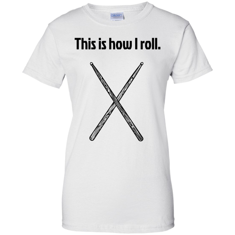 Image of This is how I Roll - Ladies  Cotton T-Shirt  - Purple Bee Designs - Kick Merch - 2