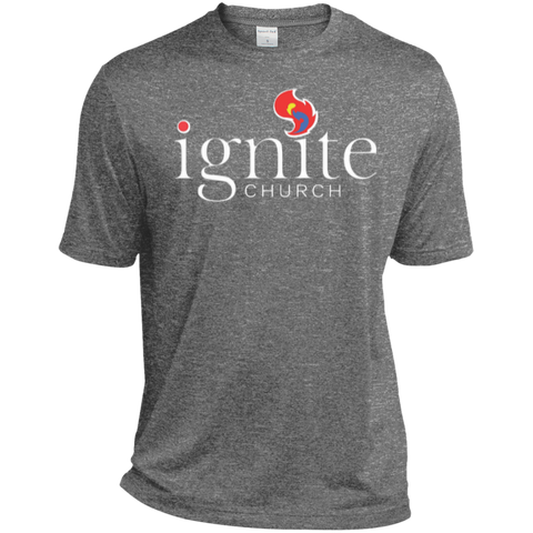Image of IGNITE church - Heather Dri-Fit Moisture-Wicking Tee for Him - Kick Merch - 7