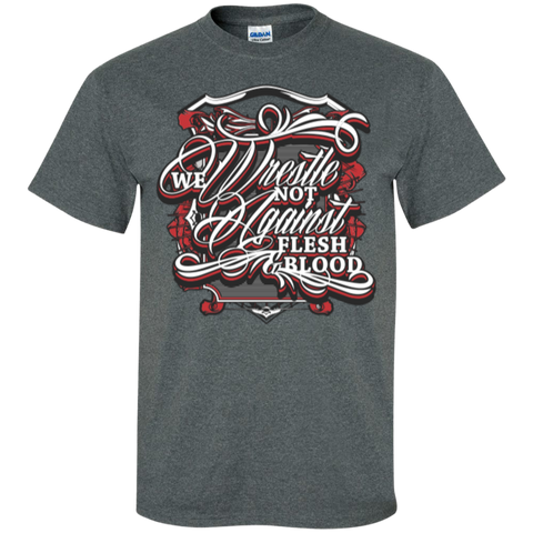 Image of We Wrestle Not - Cotton T-Shirt - Godly Wear - Kick Merch - 1