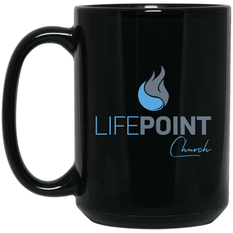 Life Point 15 oz. Black Mug