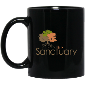 The Sanctuary - 11 oz. Black Mug