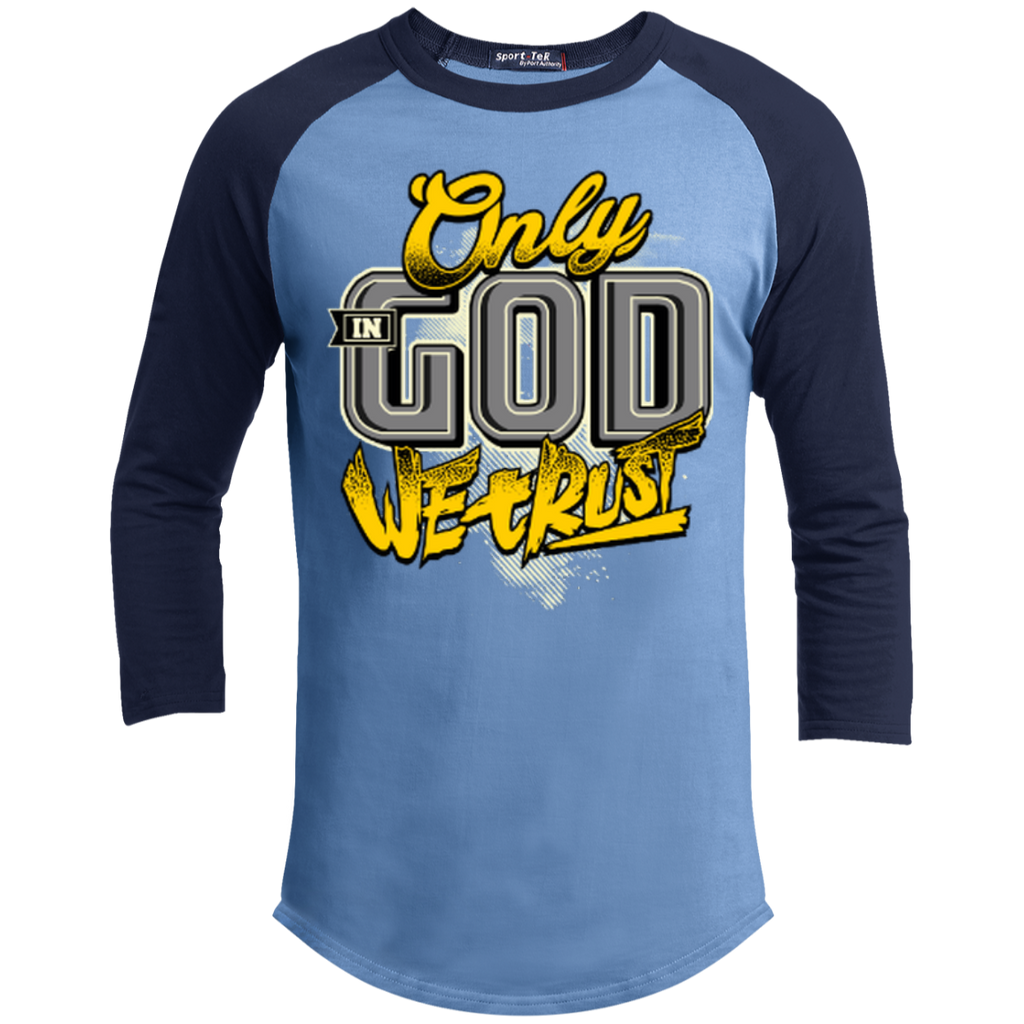 Only In God We Trust - Apostolic Images - 3/4 Length - Sporty Tee Shirt - Kick Merch - 4