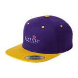 IGNITE church - Flat Bill High-Profile Snapback Hat - Kick Merch - 4