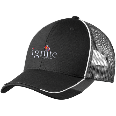 Image of IGNITE church - Colorblock Mesh Back Cap - Kick Merch - 2
