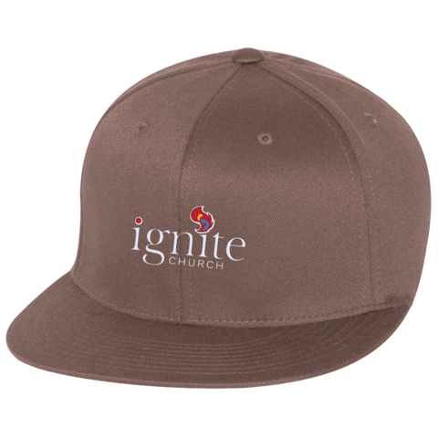 Image of IGNITE church - Flat Bill Twill Flexfit Cap - Kick Merch - 2